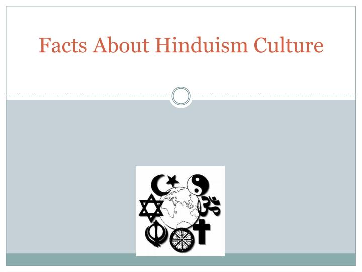 Facts about hinduism culture