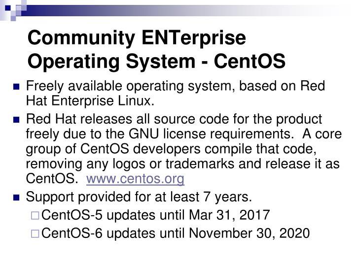 Community ENTerprise Operating System - CentOS