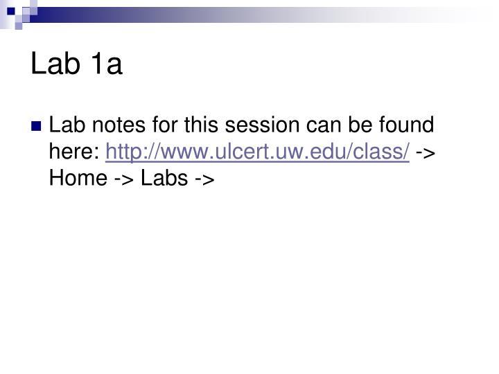 Lab 1a