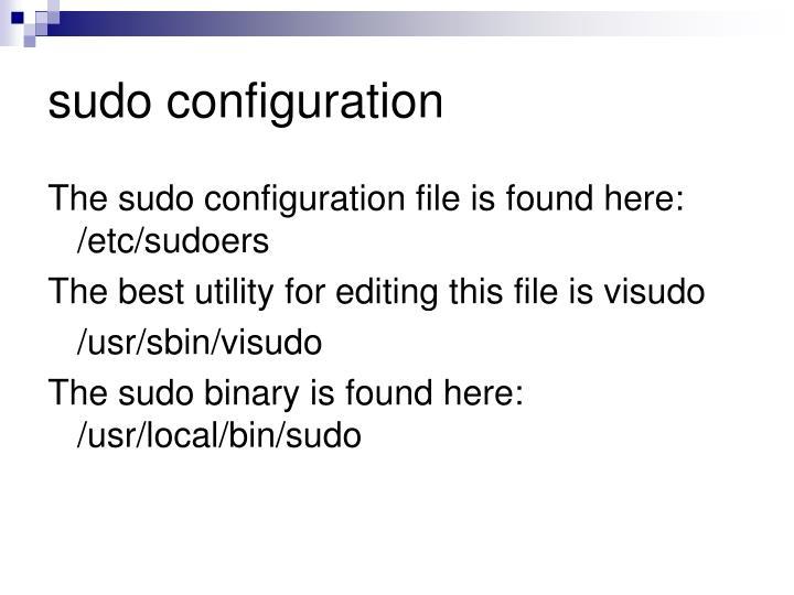 sudo configuration