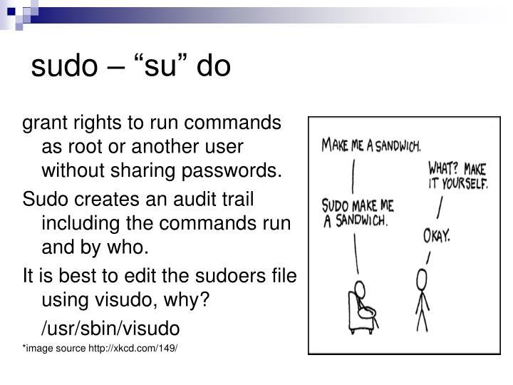 """sudo – """"su"""" do"""