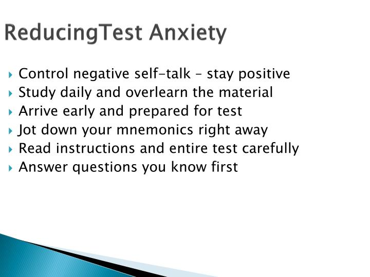 ReducingTest Anxiety