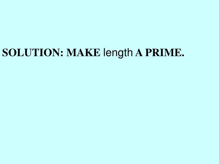 SOLUTION: MAKE