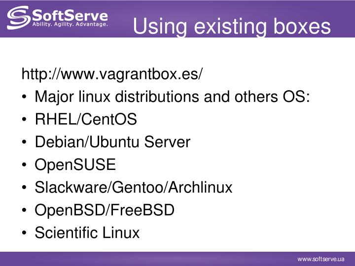 Using existing boxes