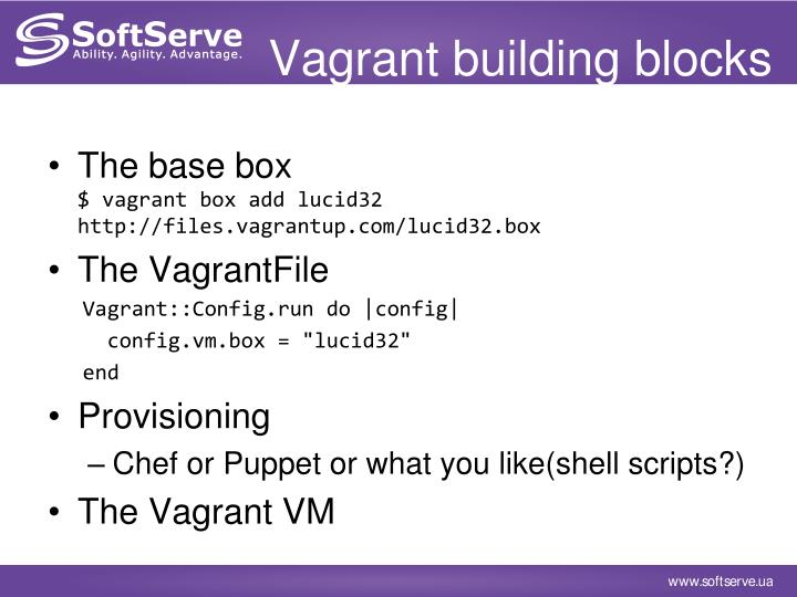 Vagrant building blocks