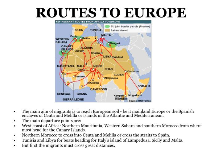 ROUTES TO EUROPE