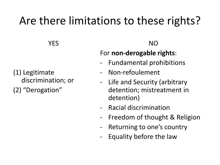 Are there limitations to these rights?
