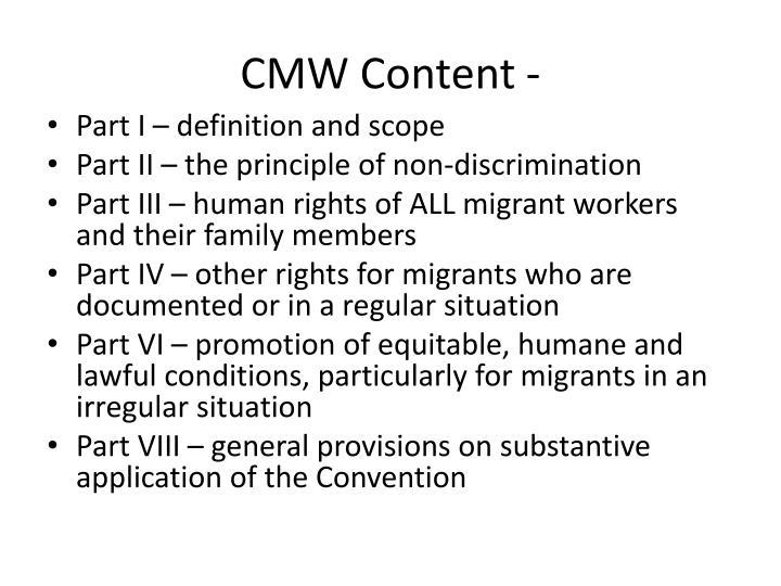 CMW Content -