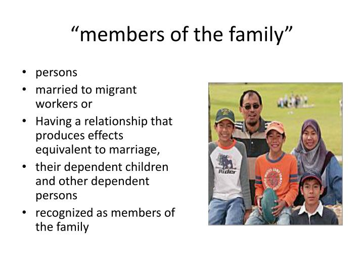 """""""members of the family"""""""