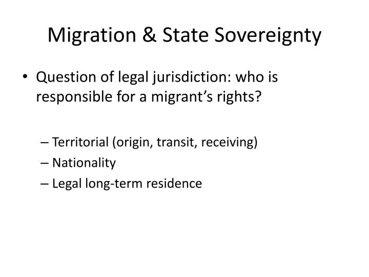 Migration & State Sovereignty