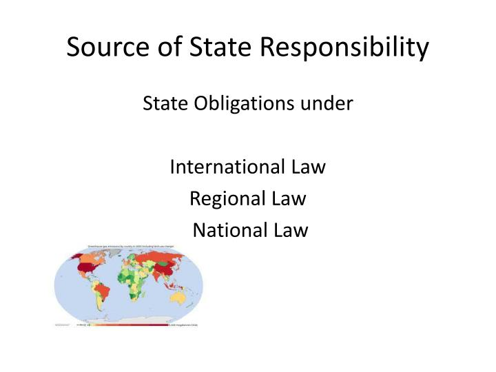 Source of State Responsibility