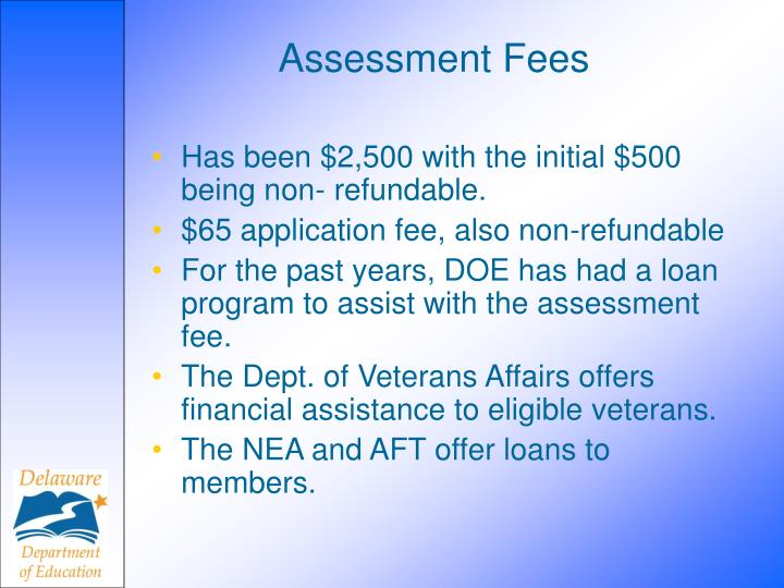Assessment Fees