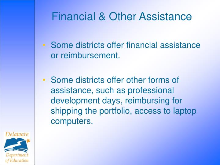 Financial & Other Assistance
