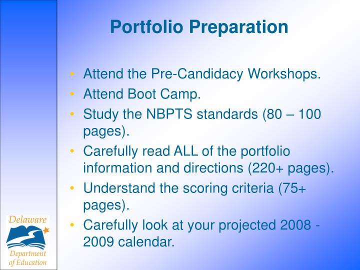 Portfolio Preparation