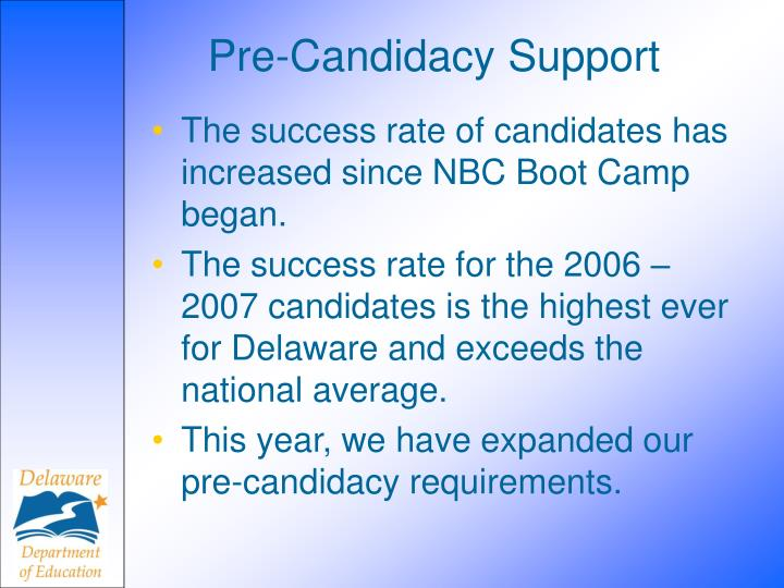 Pre-Candidacy Support