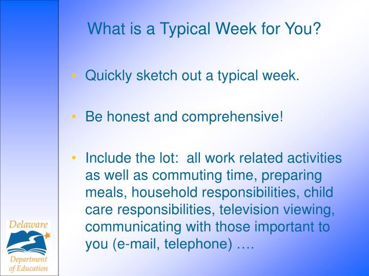 What is a Typical Week for You?