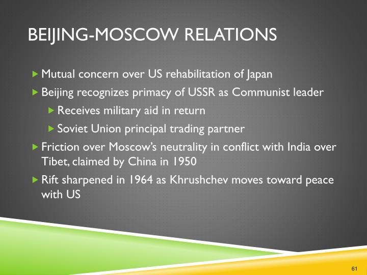 Beijing-Moscow Relations