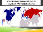 borders of nato blue and warsaw pact red states