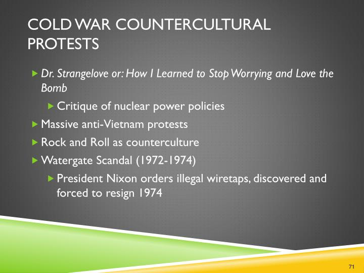 Cold War Countercultural Protests