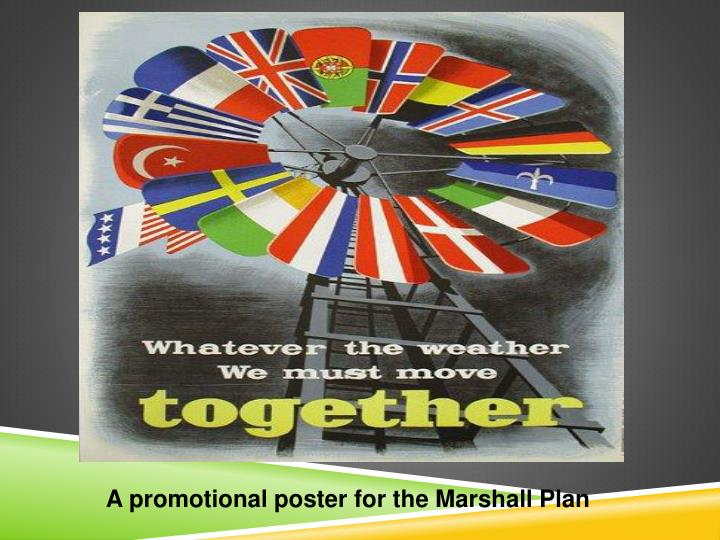 A promotional poster for the Marshall Plan