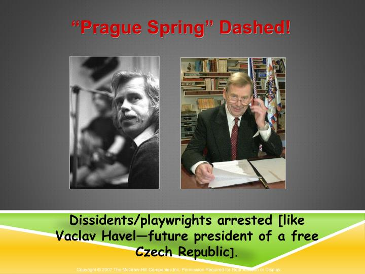 """Prague Spring"" Dashed!"