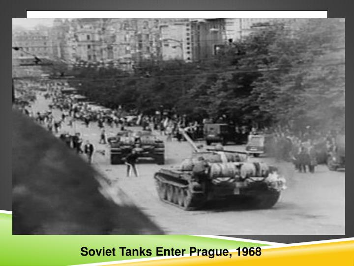 Soviet Tanks Enter Prague, 1968