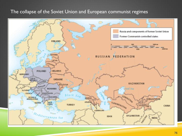 The collapse of the Soviet Union and European communist regimes