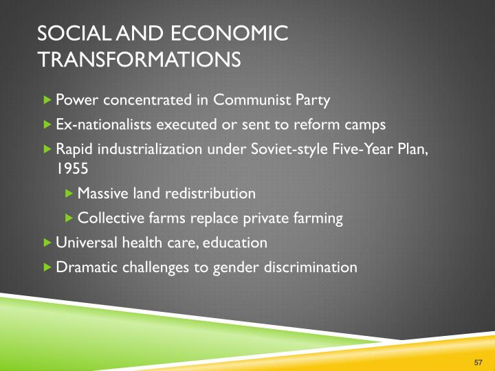 Social and Economic Transformations