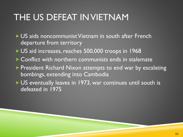 The US Defeat in Vietnam