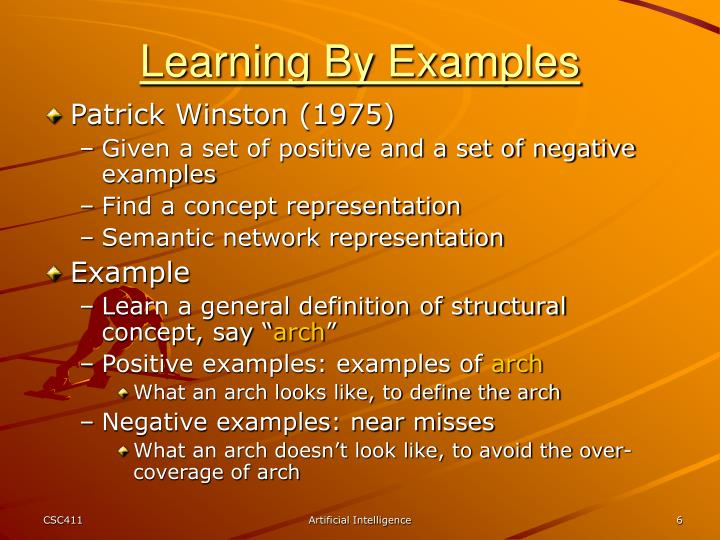 Learning By Examples
