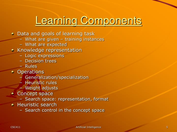 Learning Components