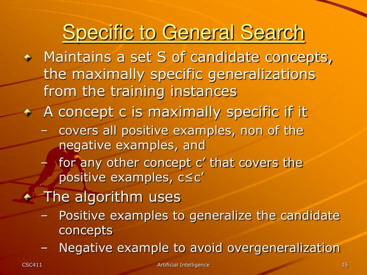 Specific to General Search