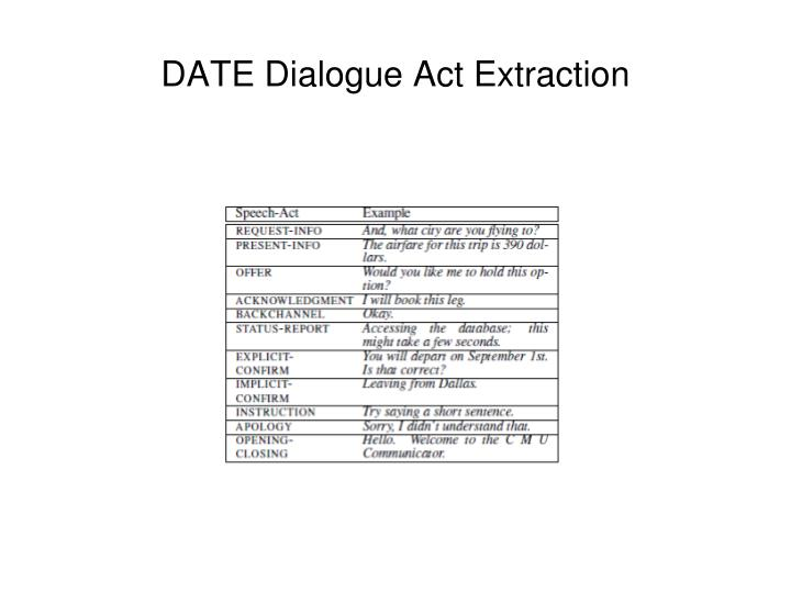 DATE Dialogue Act Extraction
