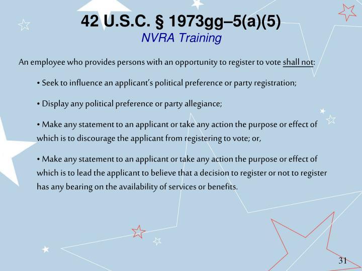 42 U.S.C. § 1973gg–5(a)(5)