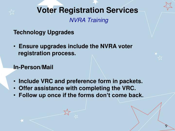Voter Registration Services