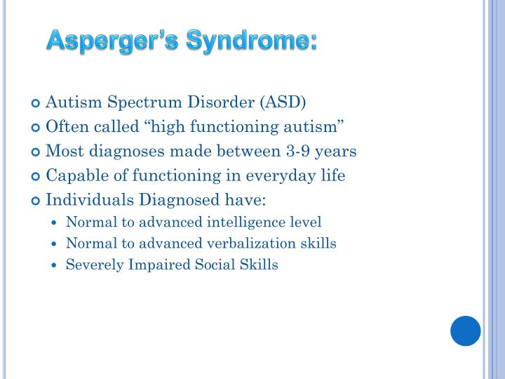 Asperger's Syndrome: