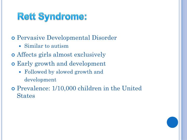 Rett Syndrome: