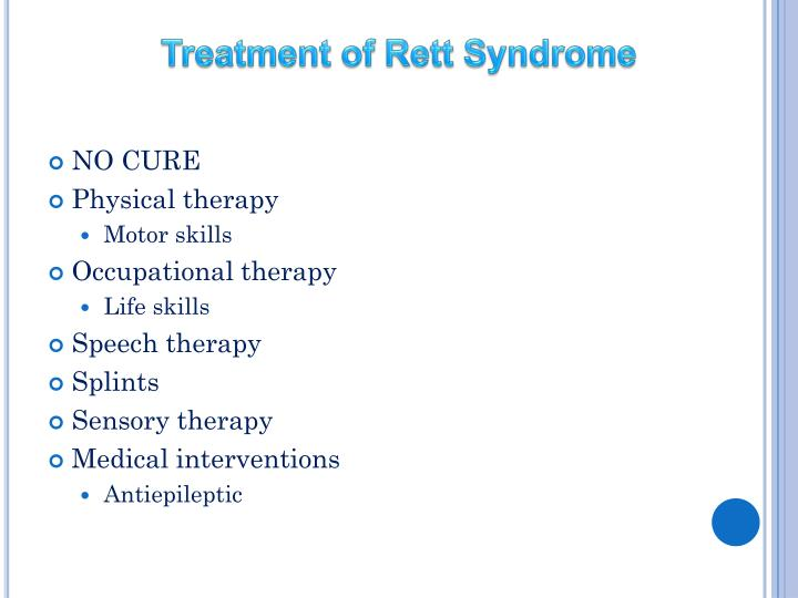 Treatment of Rett Syndrome