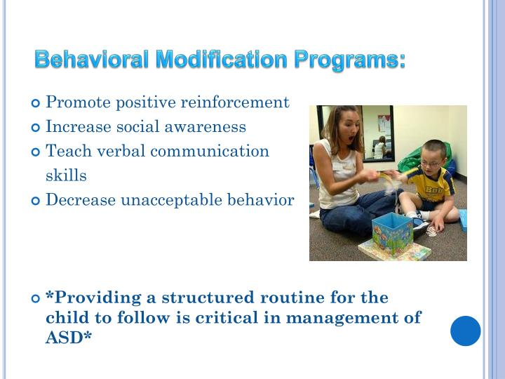 Behavioral Modification Programs: