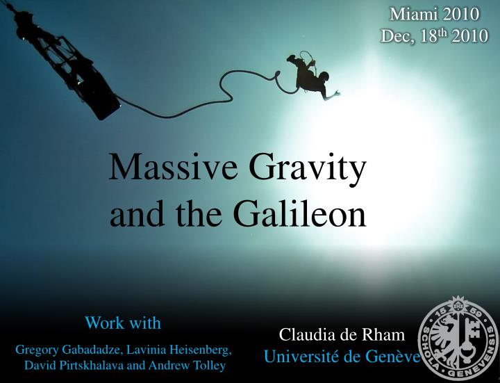 Massive gravity and the galileon