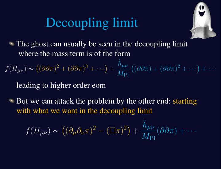 Decoupling limit