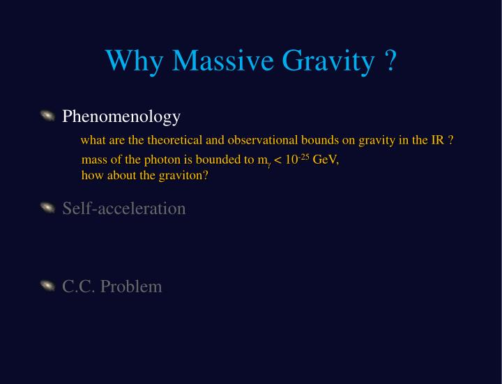 Why massive gravity1