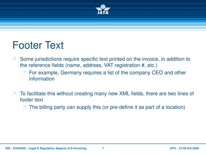 Footer Text
