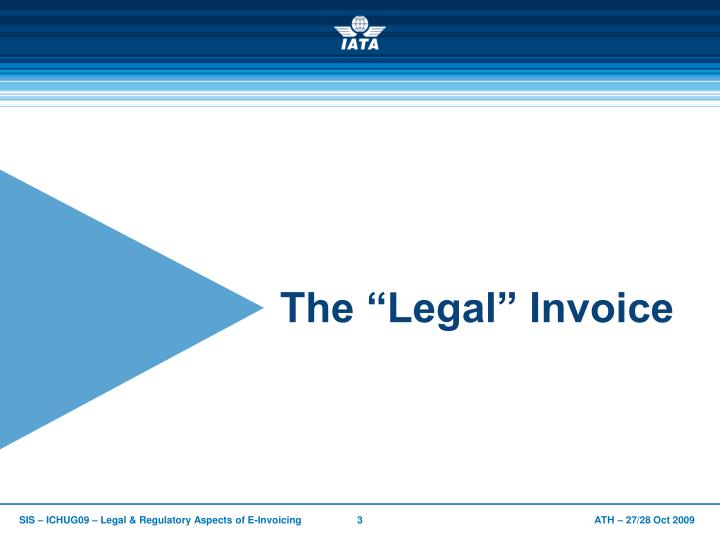 """The """"Legal"""" Invoice"""