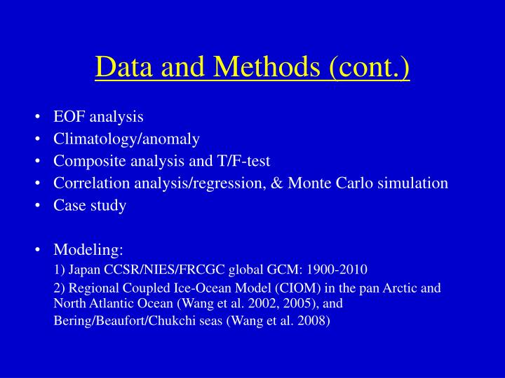 Data and Methods (cont.)