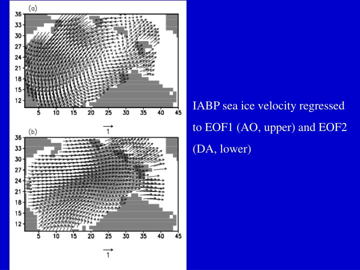 IABP sea ice velocity regressed