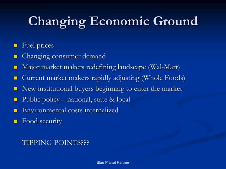 Changing Economic Ground