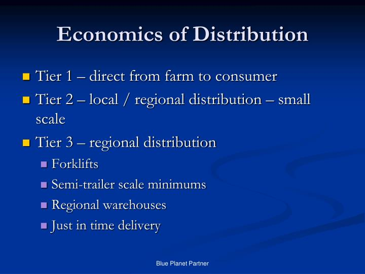 Economics of Distribution