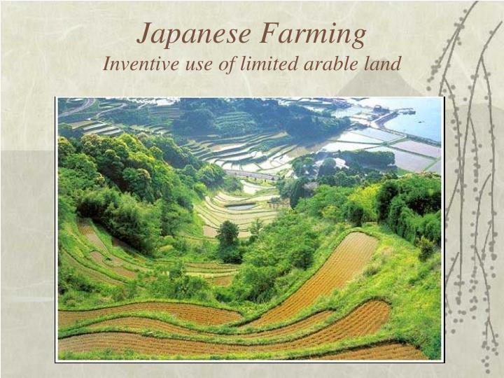 Japanese Farming