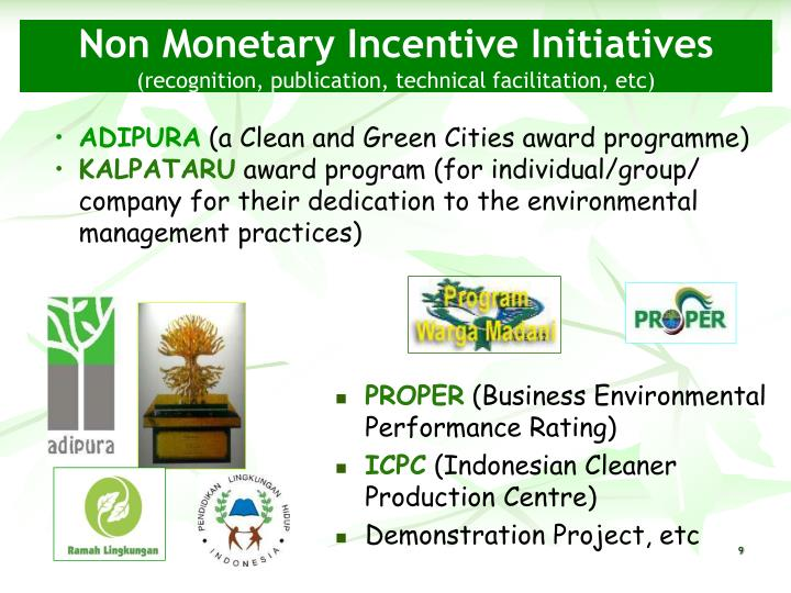 Non Monetary Incentive Initiatives
